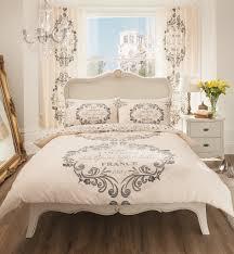 vintage french designer duvet cover bed set enlarge