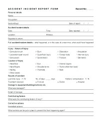 Accident Investigation Report Template On Safety Incident Report