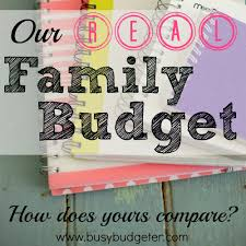 Family Budget For A Month A Sample Budget To Help You Create Your Own Budget The