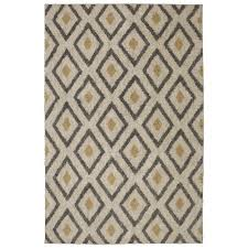 mohawk home tribal diamond tan 5 ft x 8 ft area rug