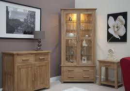 Oak Cabinets Living Room Eton Solid Oak Living Room Furniture Glazed Display Cabinet