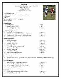 sample athletic resumes athletic resume template free resume format templates g5k6v5ap