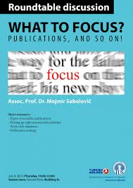 roundtable discussion what to focus publications and so on