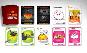 exploding kittens card game.  Game Exploding Kittens Card Game Inside S