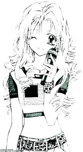 Pretty Coloring Pages Cute Anime Coloring Pages Pretty Girl Emo