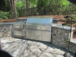 stacked bluestone grilling station