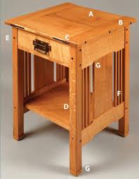 arts crafts bedside table popular woodworking