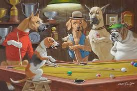 home art wall dogs playing pool game oil painting picture printed on canvas no frame vo 1 in painting calligraphy from home garden on aliexpress com