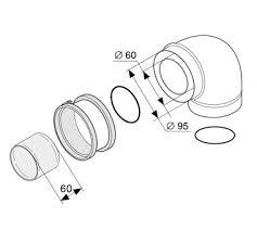 <b>Protherm Колено 90</b>° с фланцем, ø 60/100 мм купить за 2 668 руб.