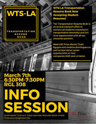 Resume Book WTSLA Transportation Resume Book Info Session USC Viterbi 55