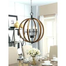 birch lane 6 light chandelier wood and chrome foyer let there be images metal