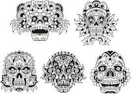 Tattoo Tete De Mort Mexicaine Tatouage Temporaire Tte De Mort
