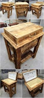 Table Drinks Cooler Top 25 Best Pallet Cooler Ideas On Pinterest Patio Cooler Diy