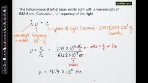 Speed Of Light And Wavelength Math Of Waves