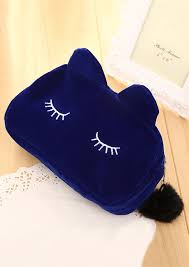 travel zipper cute cat makeup bag