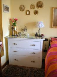 modified ikea hemnes chest of drawers s changed cut off legs and glass top