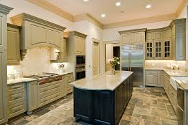 Attractive Custom Crafted U Shape Kitchen With Rectangular Island Amazing Ideas