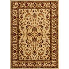 home dynamix royalty elati area rug traditional living room runner classic boarderedallion prints persian inspired design ivory tan