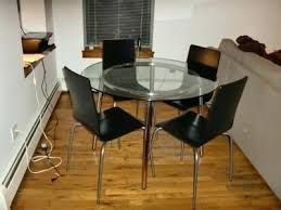 ikea round dining table and chairs glass dining table set best of best round glass top