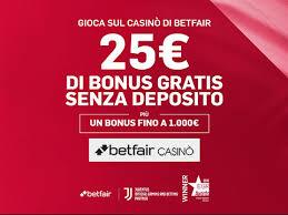 Bonus di Betfair casino'