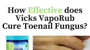 vicks vapor rub for toenail fungus cure or myth