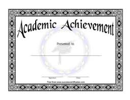 Academic Achievement Award 1 Certificate Templates Teachers