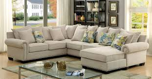 Ivory Living Room Furniture Furniture Of America Cm6156 Skyler Transitional Ivory Fabric