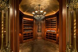 What you can find in the spacious octagonal wine room at 18 Frick Drive are  mahogany