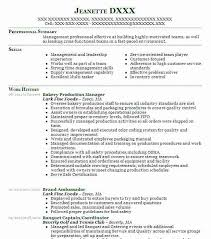 Bakery Production Manager Resume Sample Manager Resumes Livecareer