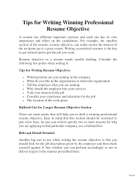How To Write A Resume Objective what should be a career objective in resume general resume 19