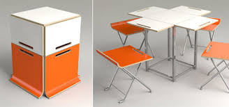 Furniture for my future tiny home or RV: Compact folding table and chairs  cube
