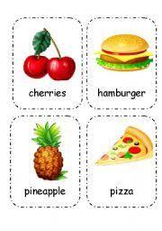 Food Flash Cards Food And Drink Flashcards Editable 1 4 Esl Worksheet By Maya_wee