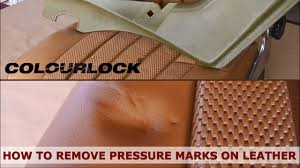 how to remove pressure marks and creases in leather colourlock leather repair