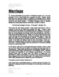 describe christian believes about divorce and explain how a    marriage a christian view