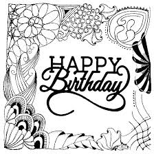 Coloring Pages Happy Birthday Coloring Adult Coloring Pages Happy