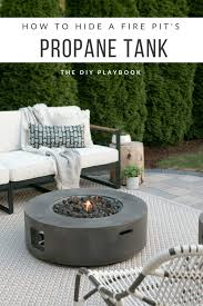easy tutorial on how to hide a fire pit s propane tank