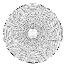 Graphic Controls 32009126 Chart Recorder Paper Din 659 Circle Chart