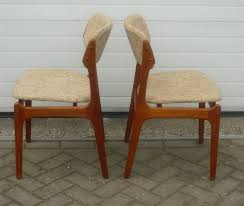 o d mobler set of dining chairs in teak and wool erik buch 1960s design of teak wood dining table