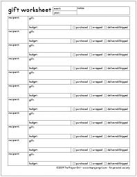 Free Download - Gift Organizer Form & Worksheet | Jenallyson - The ...
