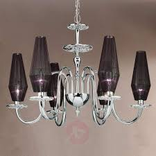 6 bulb chandelier karma in black