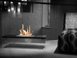 74 inch free standing ethanol fireplace