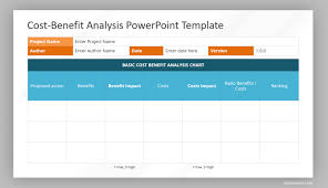 Cost Chart Template Cost Benefit Analysis Slide Slidemodel