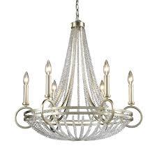 elk lighting chandelier lamp pendant pembroke 6 light 31 inch in polished nickel full size