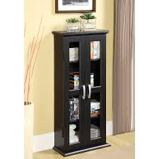 Cherry Wood Dvd Storage Cabinet Amazoncom Walker Edison 41 Media Storage Cabinet Black