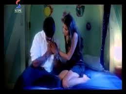 Romantic Love Scene On BED At Night