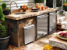 Complete Outdoor Kitchen Ravishing Exterior Furniture Design Introducing Admirable Modular