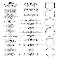 花のデザイン要素は黒い色の冠と観賞用のビンテージ フレームを設定しますページの装飾ベクトルの図