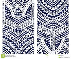 маорийский комплект орнамента стиля иллюстрация вектора
