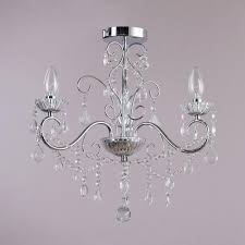 bathroom chandeliers suited for rooms with low ceiling
