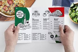 Tri Fold Pizza Menu Template